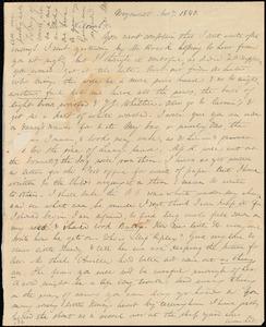 Letter from Anne Warren Weston, Weymouth, [Mass.], to Deborah Weston, Nov. 7, 1840