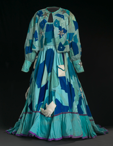 Costume gown, petticoat, and jacket for Addaperle in The Wiz on Broadway