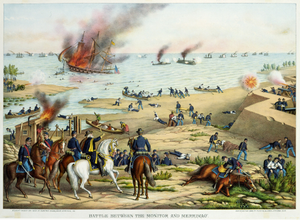 Battle between the Monitor and Merrimac