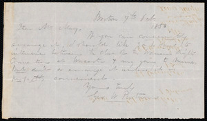 Letter from George W. Putnam, Boston, to Samuel May, 7th Oct. 1850