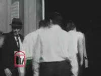WSB-TV newsfilm clip of lawyers for civil rights workers charged with the capital offense of insurrection, police, and trial bystanders in Americus, Georgia, 1963 October 31