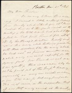 Letter from Edmund Quincy, Boston, [Mass.], to Caroline Weston, Mar[ch] 23rd, 1846
