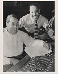 [Duke Ellington and his son, Mercer Ellington : black-and-white photoprint, ca. 1950s.]