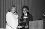 Crenshaw Neighbors, Inc. presenting an award to Ethel Bradley, Los Angeles