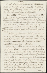 Draft of a resolution of slavery] [manuscript