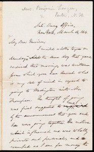 Letter from Oliver Johnson, New York, [N.Y.], to William Lloyd Garrison, March 16, 1864