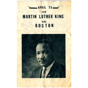 """Program for """"Martin Luther King and Boston"""" march."""