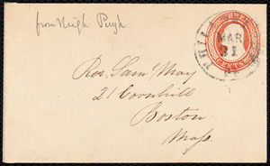 Letter from Sarah Pugh, Philadelphia, to Samuel May, 30 March -54