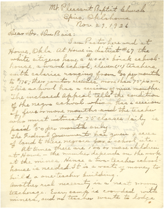 Letter from D. W. Fulsom to W. E. B. Du Bois