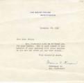 Malvina C. Thompson Letter, on Behalf of Eleanor Roosevelt, to Florence Price, November 20, 1940