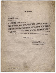 [Letter from Dr. Edwin D. Moten to Dr. Owens, January 21, 1946]