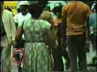 WSB-TV newsfilm clip of civil rights activist Hosea Williams addressing a crowd of picketers and conducting an interview with Dick Horner regarding civil rights advocacy and negotiation, Atlanta, Georgia, 1973 August 6