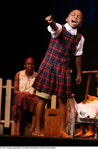 Young Performer on Stage Hallelujah Gospel: The Musical