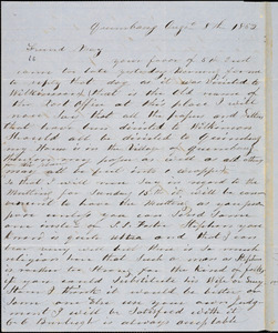 Letter from Asa Cutler, Quinebaug, [Connecticut], to Samuel May, 1852 August 8th