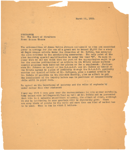 Memorandum from Norman Thomas to the American Fund for Public Service, Board of Directors