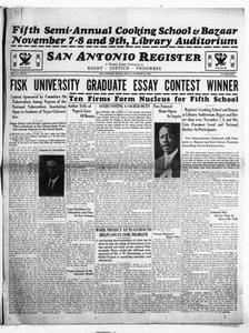 San Antonio Register (San Antonio, Tex.), Vol. 4, No. 27, Ed. 1 Friday, October 19, 1934 San Antonio Register