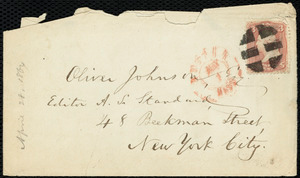 Letter from William Lloyd Garrison, Boston, [Mass.], to Oliver Johnson, April 28, 1864