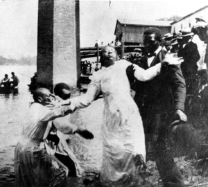 Photograph of a woman being baptized in or near Richmond County, Georgia, late 19th century