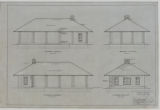 Battle Creek Park, Shelter Building, Southwest, Northwest, Northeast, Southeast Elevations