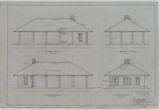 Battle Creek Park, Shelter Building, Southwest, Northwest, Northeast, Southeast Elevations