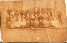 A black and white image of an unknown Massie School class from the late 1800s
