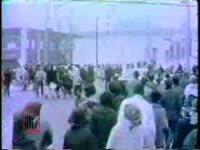WSB-TV newsfilm clip of demonstration protesting the Georgia legislature's refusal to seat Julian Bond, Atlanta, Georgia, 1966 January 14