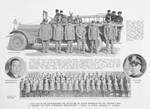Engine Co. No. 21 was organized Dec. 21st, 1872, at No. 13 Taylor St.; [A group of colored policemen]; Lieutenant William Middleton; Officer Albert C. Blue