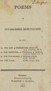 Poems of established reputation : to wit: 1st. The art of preserving health