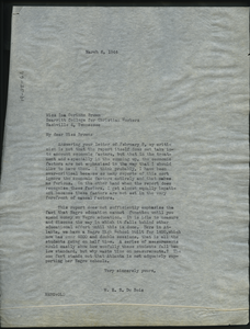 Letter from W. E. B. Du Bois to Ina Corinne Brown