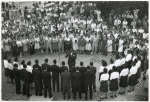 Workers gather to hear chorus of Arsenal workers sing spirituals; Picatinny Arsenal, Dover, N. J., 13 Dec. 1944