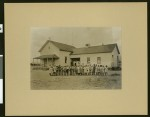 Coalinga school, showing students and teachers in front, 1907