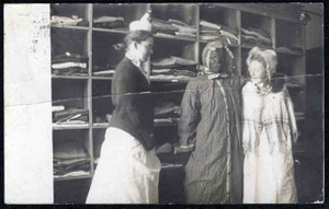 Thumbnail for Three women in costume, one in blackface, Faribault.