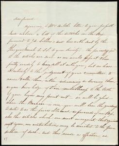 Letter from Catherine Paton, Glasgow, [Scotland], to Maria Weston Chapman, 1st Nov. 1841