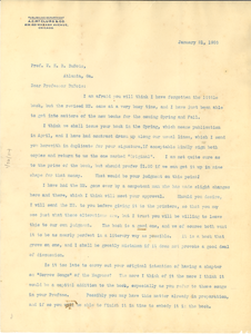 Letter from A.C. McClurg and Company to W. E. B. DuBois
