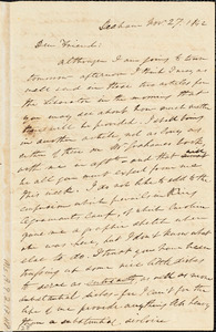Letter from Edmund Quincy, Dedham, [Mass.], to Maria Weston Chapman, Nov. 27, 1842