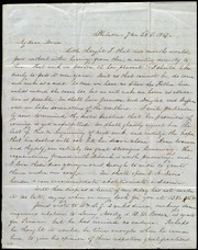 Letter to] My dear Maria [manuscript