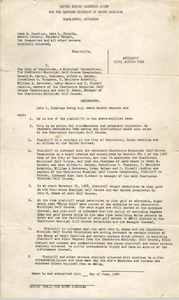 Affidavit Civil Action 7048, Charleston Division, June 1960