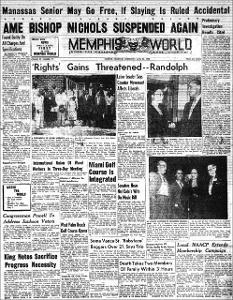 Memphis World, 1958 April 23rd
