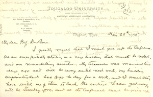 Letter from Frank G. Woodworth to W. E. B. Du Bois