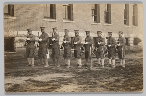 Photographic postcard of soldiers of L Company, 25th Infantry