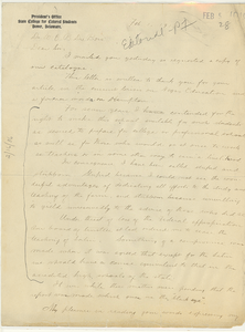 Letter from A. C. Jason to W. E. B. Du Bois