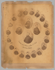 Albumen print of 23rd United States Colored Troops (USCT) Officers