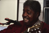 Johnny Shines performing at Old Alabama Town during the 1991 Alabama Folklife Festival in Montgomery, Alabama.