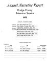 Annual Narrative Report Dodge County Extension Service 1969