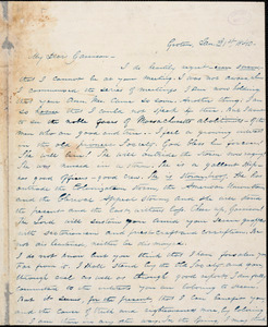 Letter from Silas Hawley, Groton, [Massachusetts], to William Lloyd Garrison, 1840 Jan[uary] 21st