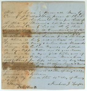 Bill of sale Robert Emmett Bledsoe Baylor Papers