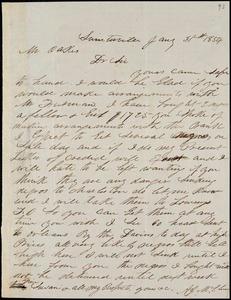 A. J. McElveen, Sumterville, S.C., autograph letter signed to Ziba B. Oakes, 31 January 1854