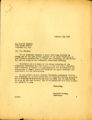 Acknowledgment letter of 1947 February 17