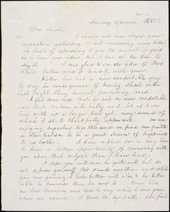 Letter from Eliza Frances Eddy, [Boston, Massachusetts], to William Lloyd Garrison, 1855 Nov[ember] 4