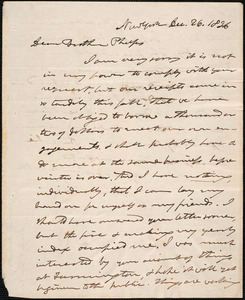 Letter from Joshua Leavitt, New York, to Amos Augustus Phelps, Dec. 26. 1836